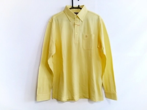 Munsingwear(マンシングウェア) 長袖ポロシャツ サイズM メンズ新品同様  イエロー