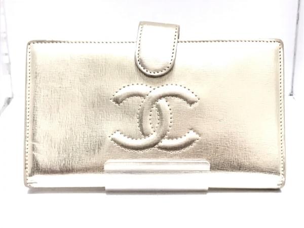 CHANEL(シャネル) 2つ折り財布 - ゴールド ココマーク レザー