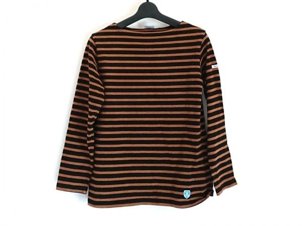 ORCIVAL(オーシバル) 長袖Tシャツ サイズ2 M レディース ブラウン×黒 ボーダー