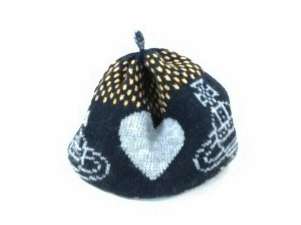 ヴィヴィアンウエストウッドアクセサリーズ ニット帽美品  黒×グレー×ベージュ