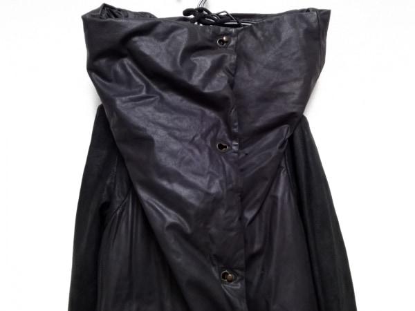 アイザックセラム ダウンコート サイズ36 S レディース 黒 冬物/レザー(カーフ×ラム)