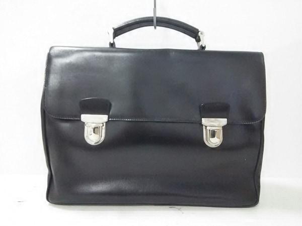 PRADA(プラダ) ビジネスバッグ - - 黒 レザー