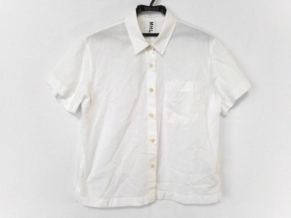 MHL.(マーガレットハウエル) 半袖シャツブラウス サイズ1 S レディース美品  白