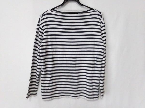 マッキントッシュ 長袖Tシャツ サイズ40 M レディース美品  白×ネイビー ボーダー