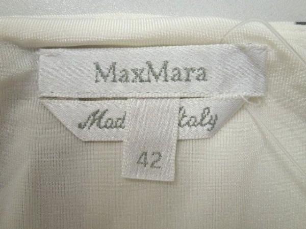 マックスマーラ ワンピース サイズ42 M レディース 白×パープル×ダークグレー