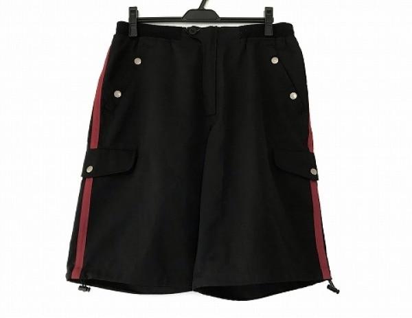 バーバリーブラックレーベル ハーフパンツ サイズ85 メンズ 黒×レッド