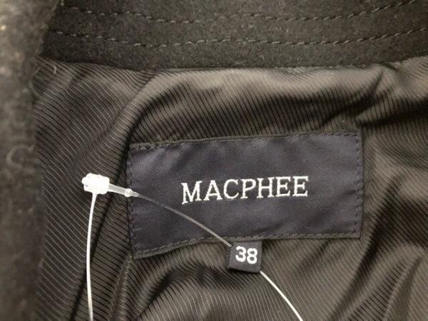 MACPHEE(マカフィ) Pコート サイズ38 M レディース 黒 冬物