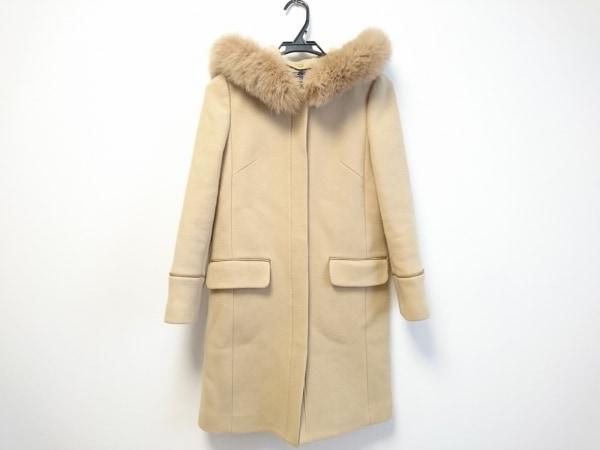 ジャスグリッティー コート サイズ0 XS レディース ベージュ 冬物/フォックスファー