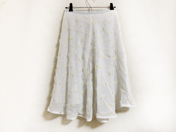 furfur(ファーファー) スカート レディース美品  白×アイボリー ドット