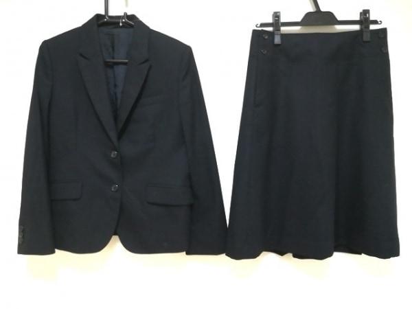 マーガレットハウエル スカートスーツ サイズ2 M レディース美品  黒 肩パッド/ウール