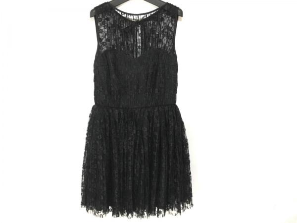キッカザダイアリーオブ ドレス サイズ38 M レディース新品同様  黒 プリーツ/レース