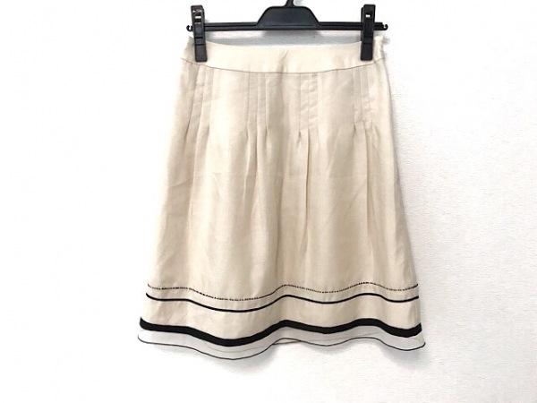 アプワイザーリッシェ スカート サイズ1 S レディース美品  アイボリー×黒
