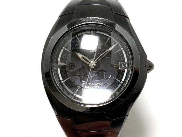 GSX WATCH(ジーエスエックス) 腕時計 GSX904 GSX904X-2 メンズ 裏スケ 黒
