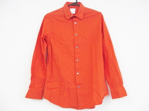 PaulSmith(ポールスミス) 長袖シャツ サイズMEDIUM M メンズ オレンジ
