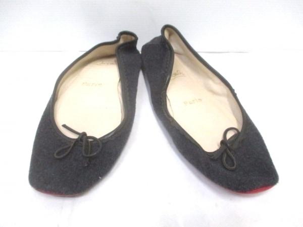 クリスチャンルブタン 靴 確認できず レディース ダークグレー×黒 ウール×レザー
