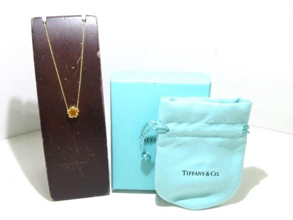 TIFFANY&Co.(ティファニー) ネックレス新品同様  - K18YG×シトリン オレンジ