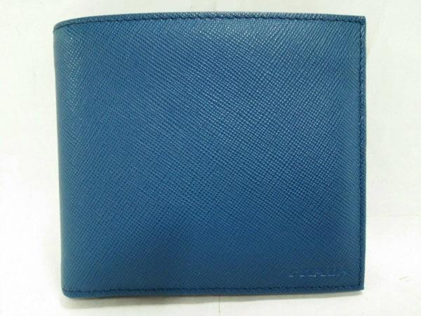 PRADA(プラダ) 札入れ新品同様  - 2M0513 ブルー サフィアーノレザー