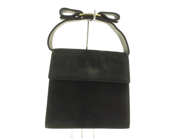 サルバトーレフェラガモ ハンドバッグ ヴァラ 黒 ミニサイズ スエード