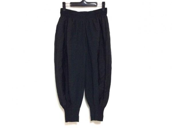 ISSEYMIYAKE(イッセイミヤケ) パンツ サイズ2 M レディース美品  黒×ダークブラウン
