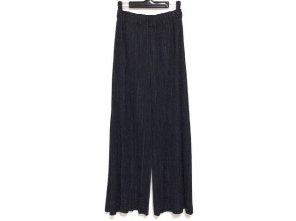 プリーツプリーズ パンツ サイズ3 L レディース美品  黒 プリーツ/ワイドパンツ