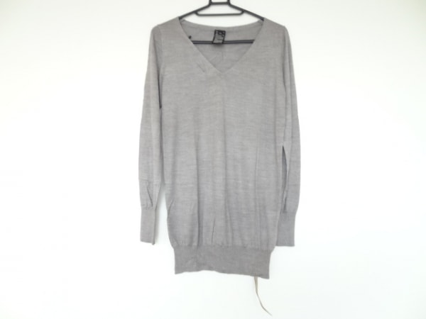 SOV.(ソブ ダブルスタンダード) 長袖セーター サイズF レディース美品  グレー シルク