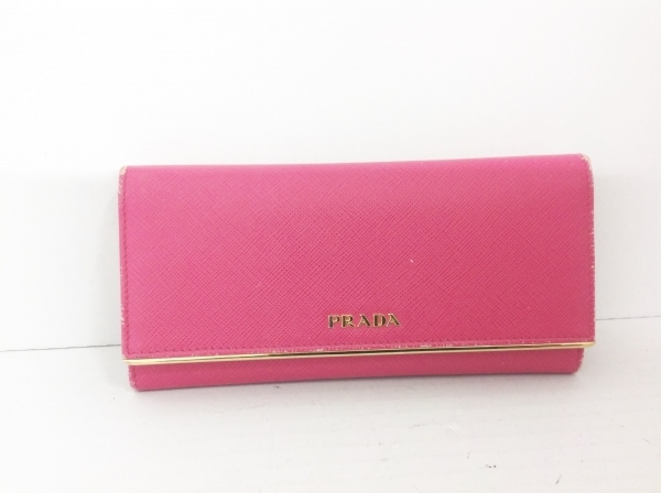 PRADA(プラダ) 長財布 - 1MH132 ピンク サフィアーノレザー