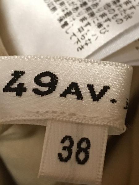 49アベニュージュンコシマダ ワンピース サイズ38 M レディース美品  ベージュ