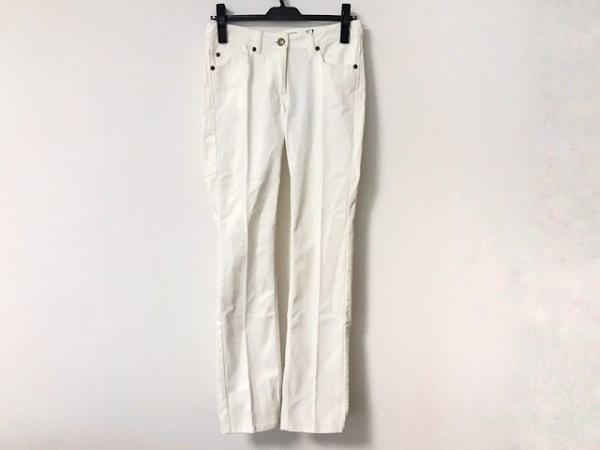 イヴサンローランリヴゴーシュ パンツ サイズ34 S レディース美品  アイボリー