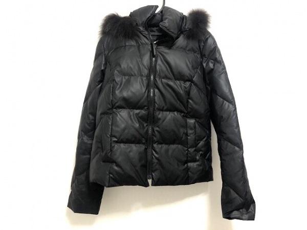 UNTITLED(アンタイトル) ダウンジャケット レディース美品  黒 ファー/冬物