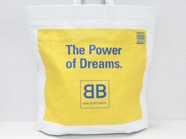 バレンシアガ トートバッグ美品  スーパーマーケット ショッパー L 508454 レザー