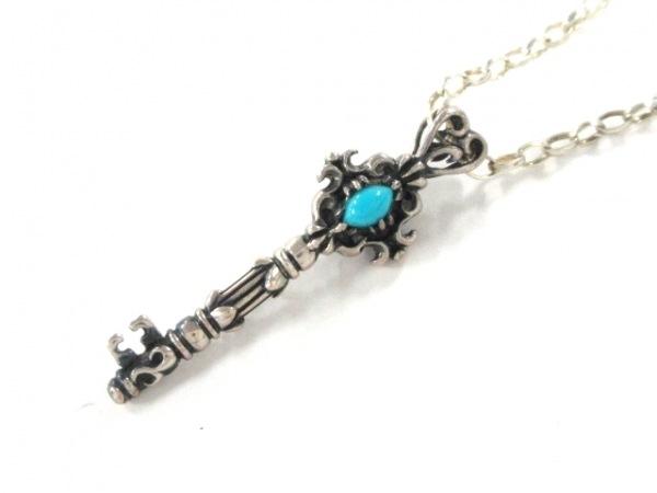 UZU(ウズ) ネックレス シルバー×カラーストーン クリア×ライトブルー 鍵