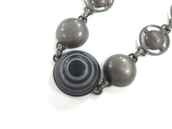 JeanPaulGAULTIER(ゴルチエ) ネックレス 金属素材×プラスチック グレー×黒
