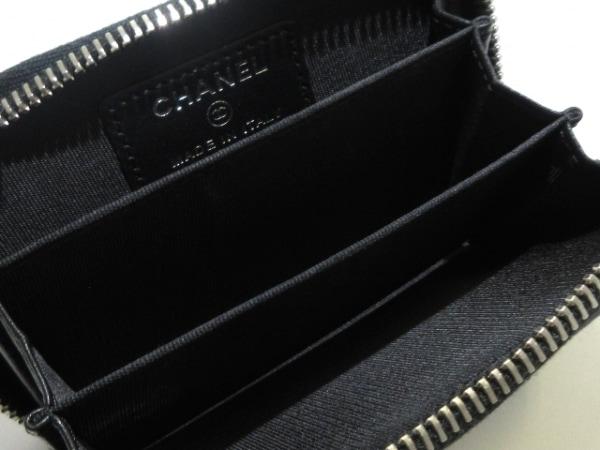 CHANEL(シャネル) コインケース美品  マトラッセ 黒 ラウンドファスナー/ココマーク