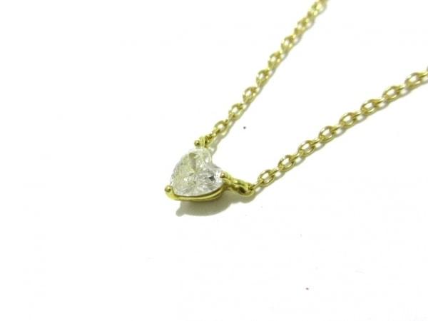 AHKAH(アーカー) ネックレス美品  K18YG×ダイヤモンド 1Pダイヤ/0.15カラット/ハート