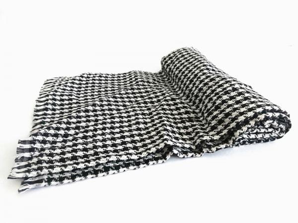 ラルフローレン ストール(ショール)   黒×白 LAUREN ウール×ビスコース