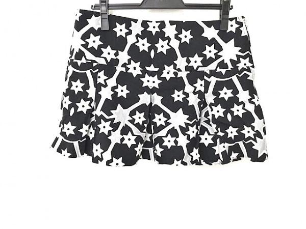 ミュウミュウ ミニスカート サイズ44 L レディース美品  黒×白×グレー スター