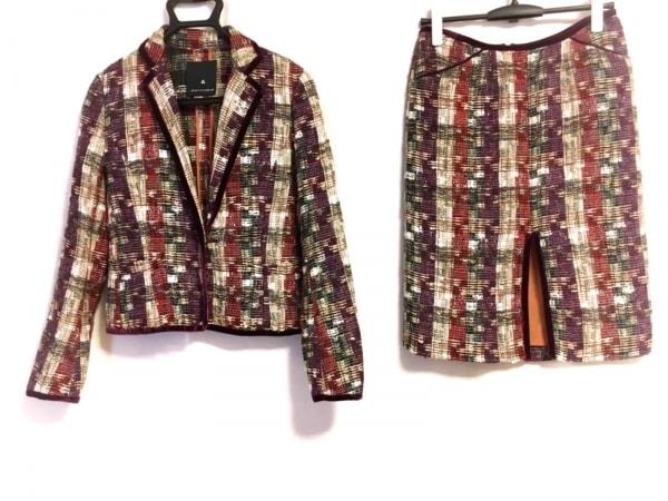 オブジェクトスタンダード スカートスーツ サイズ38 M レディース ツイード