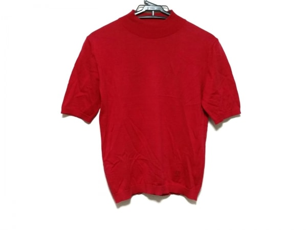 DAKS(ダックス) 半袖セーター サイズM レディース レッド ハイネック
