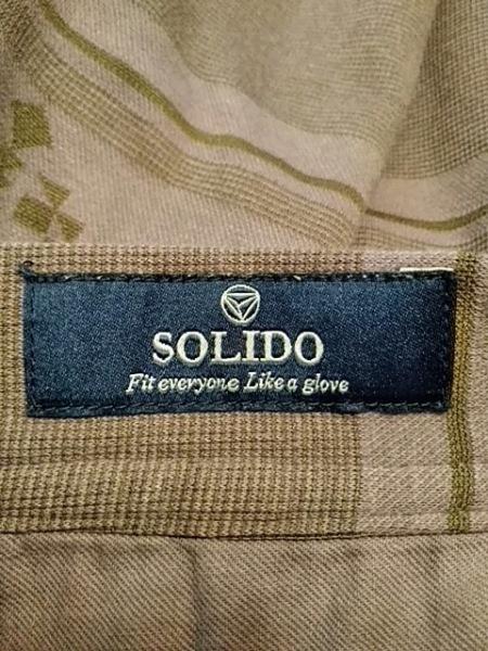 SOLIDO(ソリード) ハーフパンツ メンズ パープル×カーキ