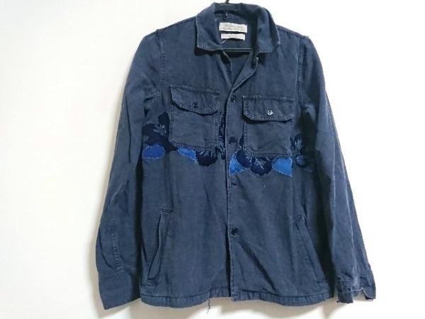 REMI RELIEF(レミ レリーフ) 長袖シャツ サイズL メンズ美品  ダークネイビー 花柄