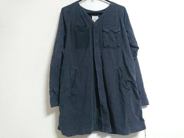 REMI RELIEF(レミ レリーフ) 長袖シャツ サイズL メンズ美品  ダークグレー ロング丈