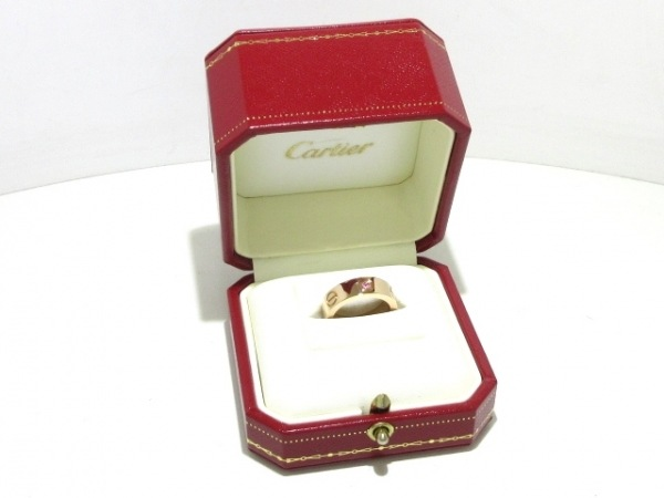 Cartier(カルティエ) リング 49新品同様  ラブ K18PG×ピンクサファイア ピンク