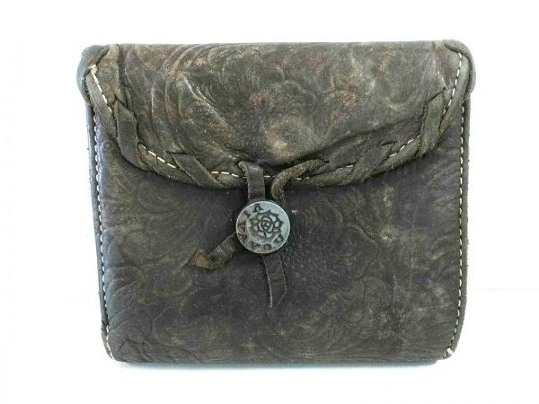 VIVAYOU(ビバユー) Wホック財布 ダークグレー レザー