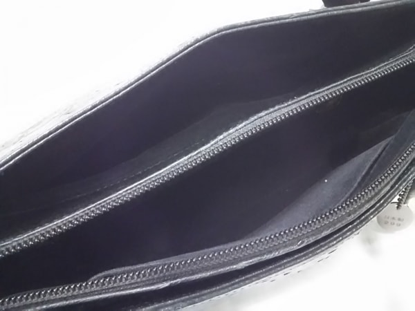 JRA(ジェイアールエイ) ハンドバッグ 黒 オーストリッチ