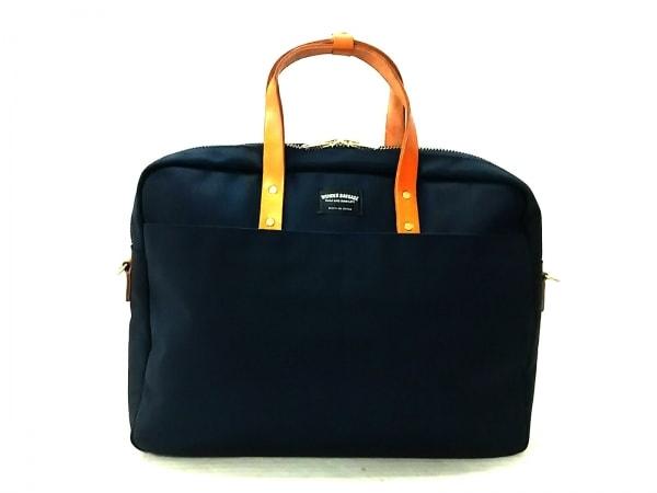 ワンダーバゲージ ビジネスバッグ美品  グッドマンズ・ブリーフケース 黒×ブラウン