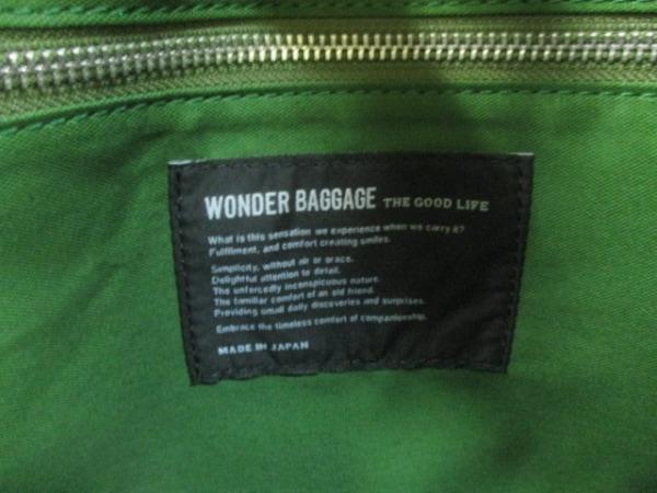WONDER BAGGAGE(ワンダーバゲージ) ショルダーバッグ美品  黒 化学繊維×レザー