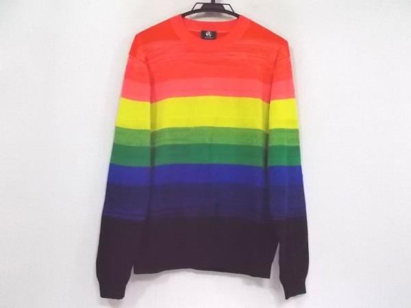 PaulSmith(ポールスミス) 長袖セーター サイズL メンズ新品同様  オレンジ×マルチ