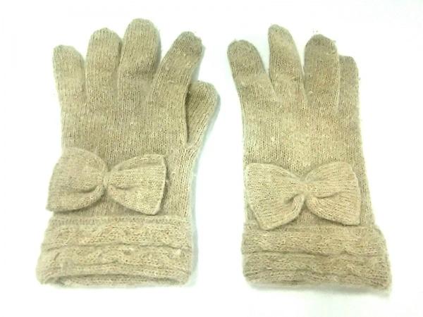 FURLA(フルラ) 手袋 レディース ベージュ リボン ウール 2