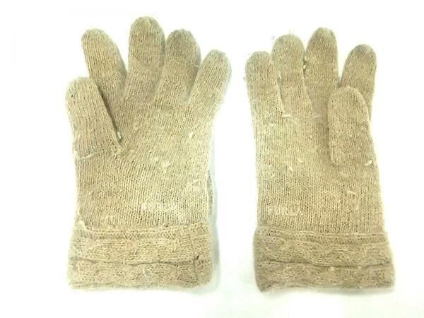 FURLA(フルラ) 手袋 レディース ベージュ リボン ウール 3