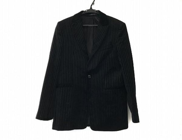 EMPORIOARMANI(エンポリオアルマーニ) ジャケット サイズ50 M メンズ 黒 ストライプ